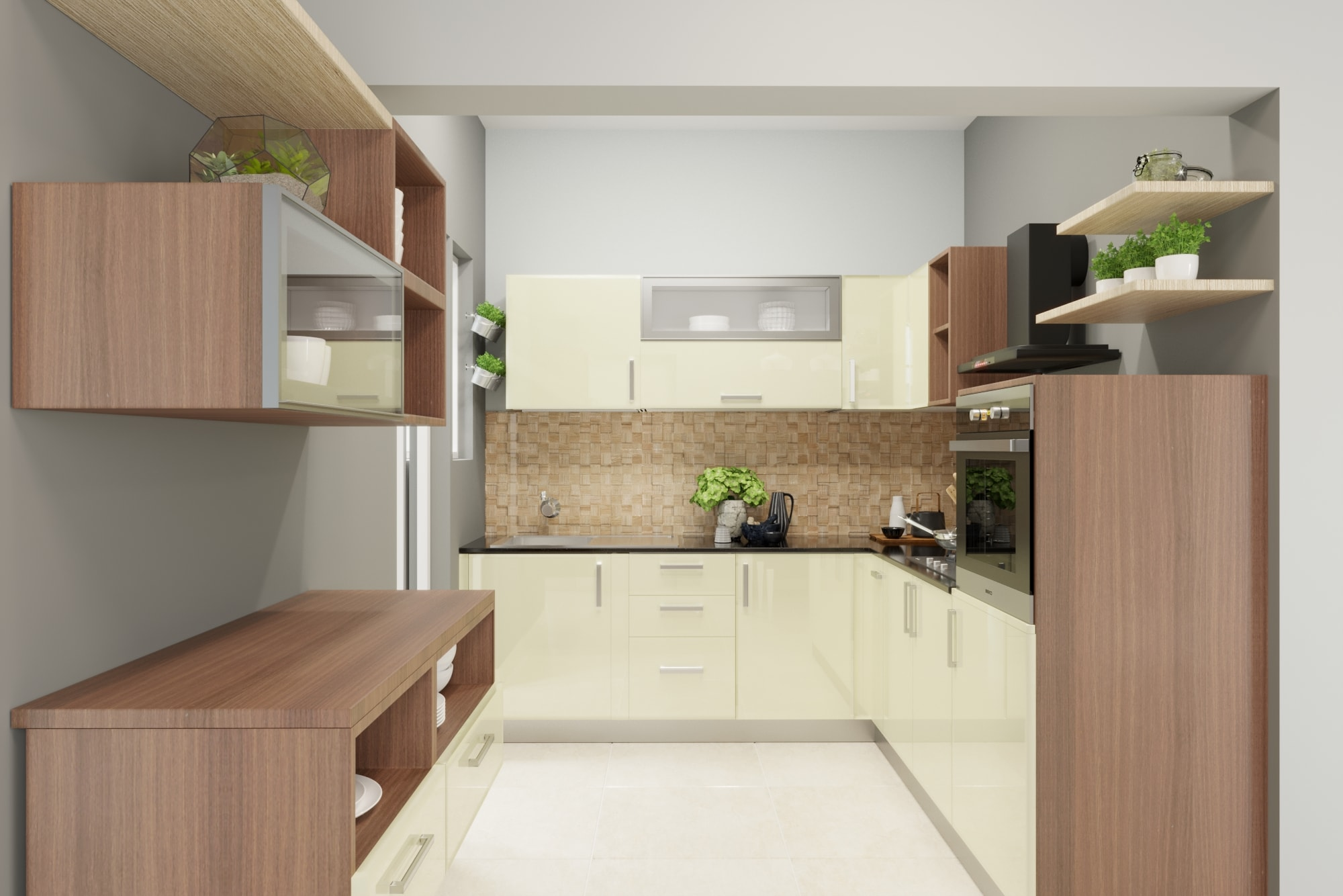 L-Shaped Modular Kitchen Designs India | HomeLane