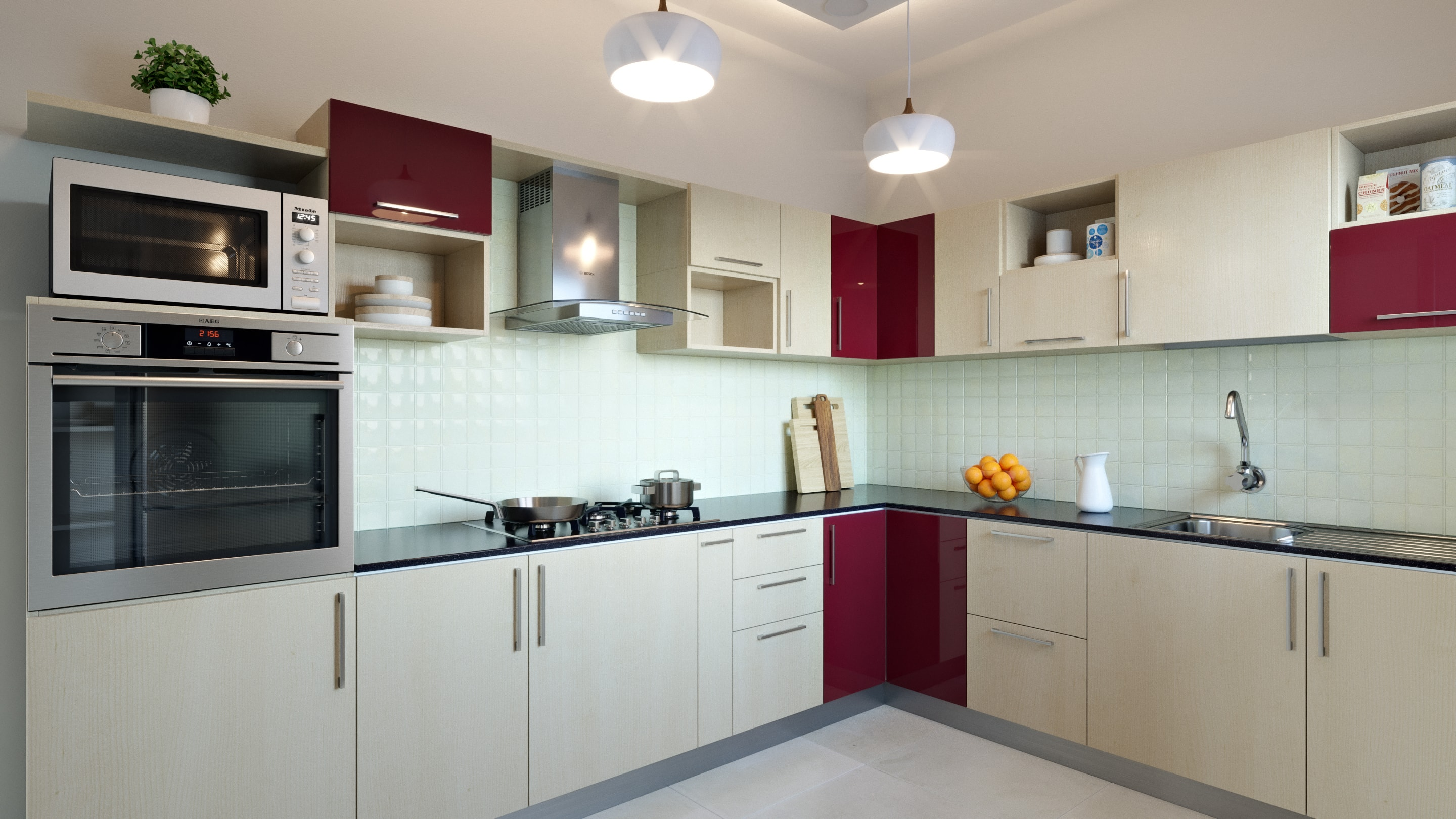L-Shaped Modular Kitchen Designs