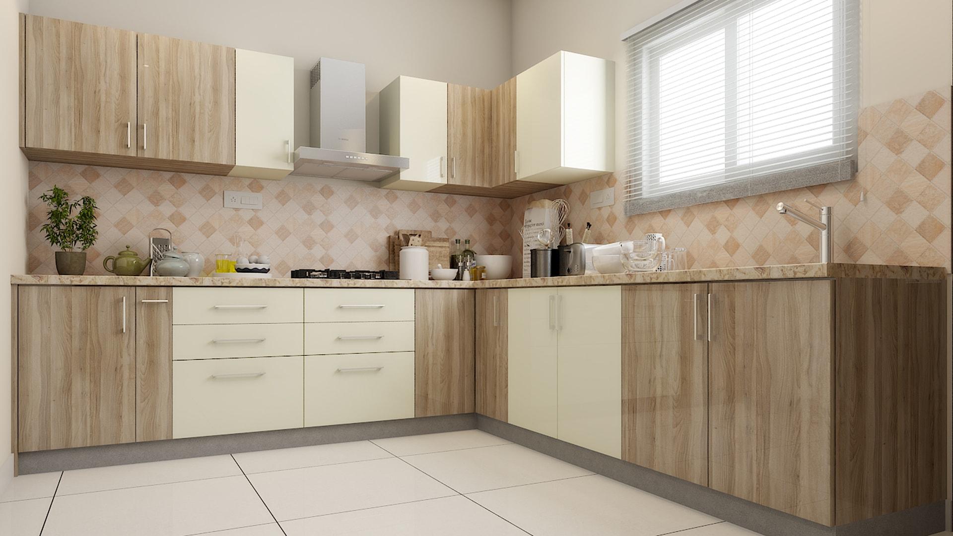 L-Shaped Modular Kitchen Designs