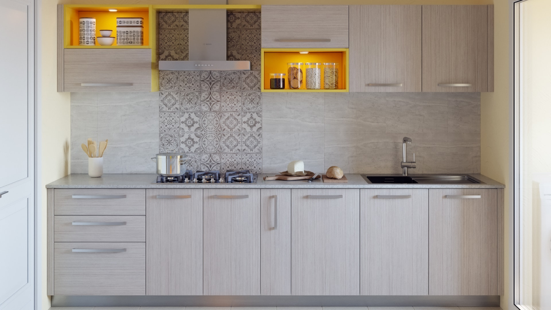 Marigold Parallel Modular Kitchen India Homelane