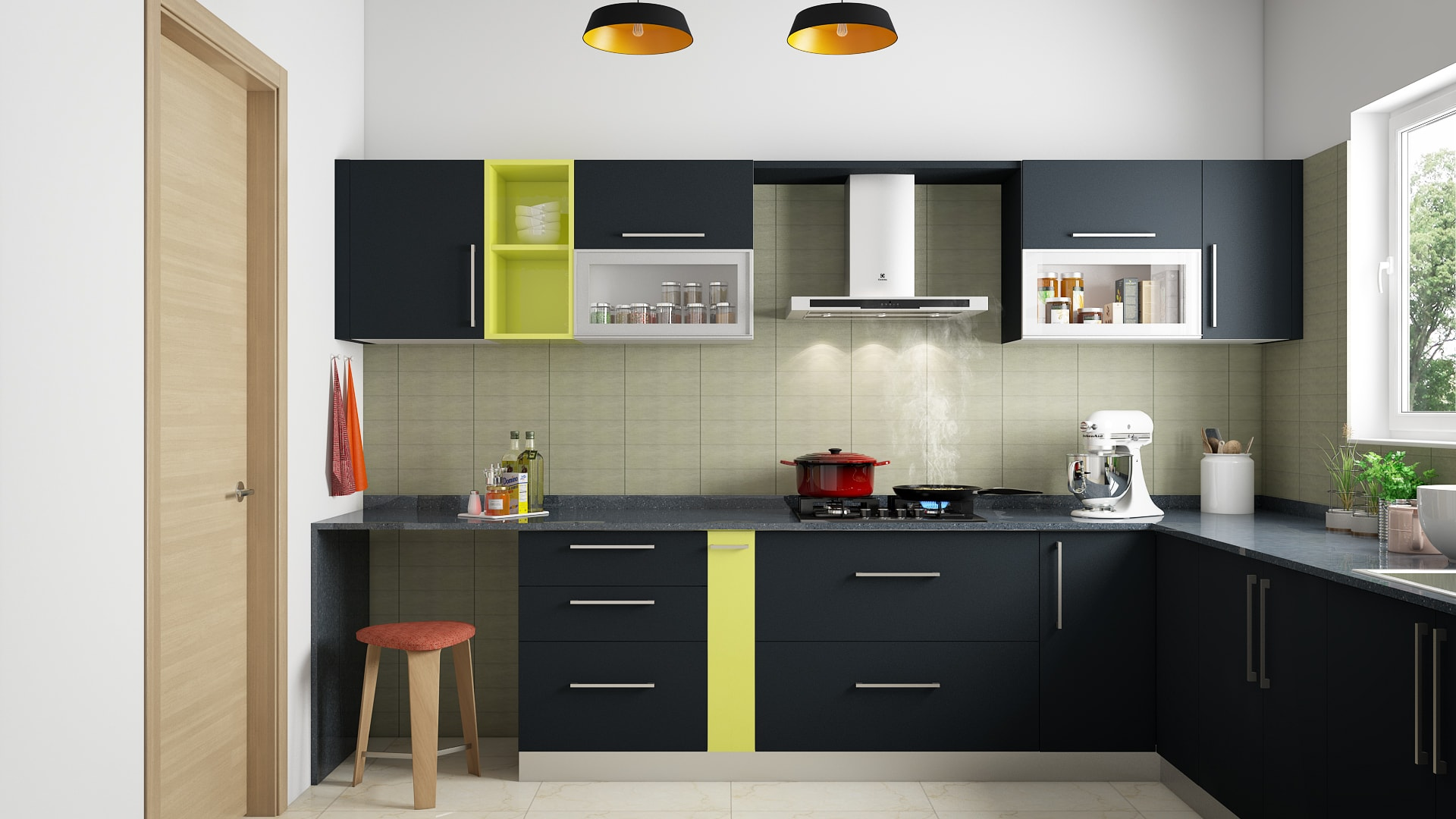 modular kitchen l shaped designs l shaped modular kitchen designs india homelane 9279