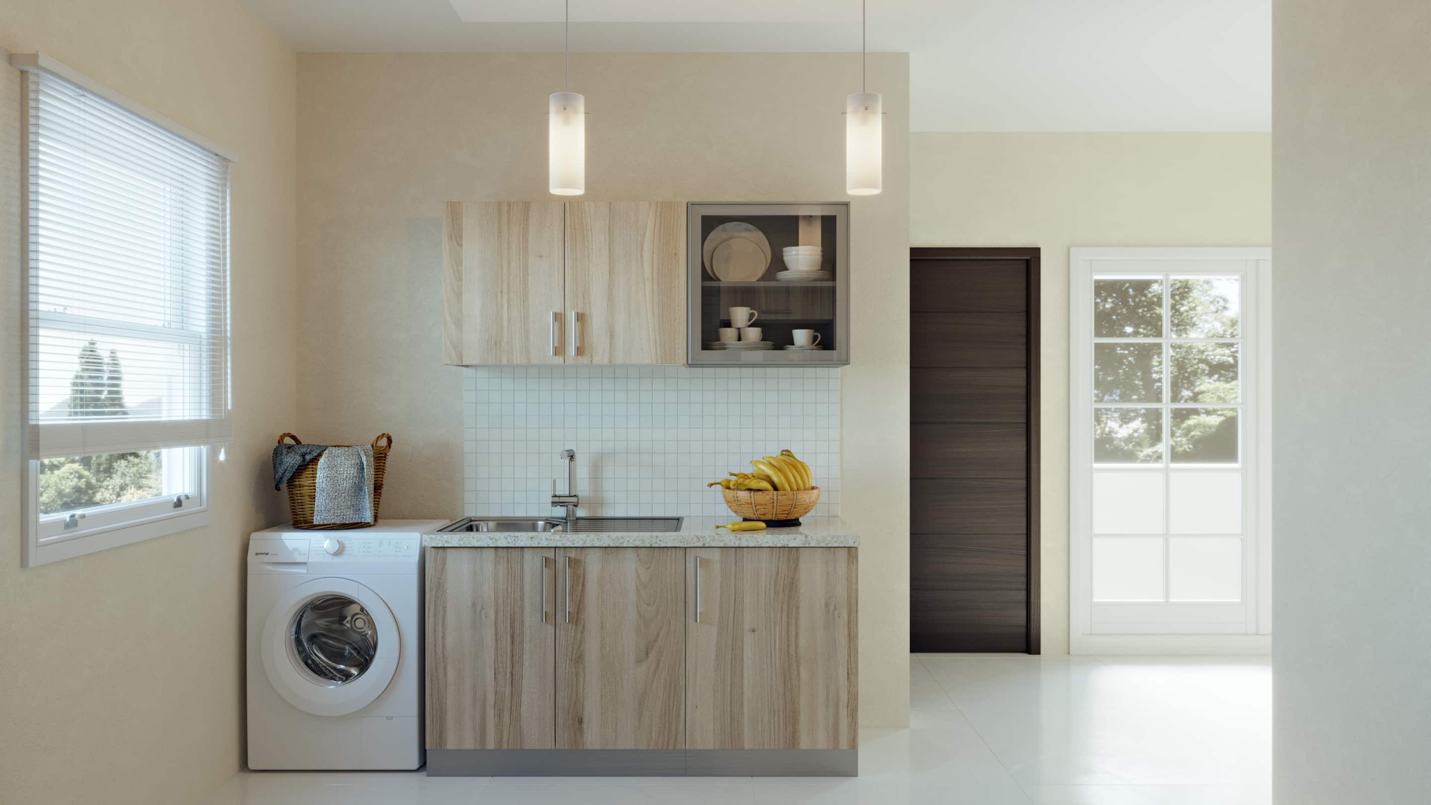 Small Straight Modular Kitchen India Homelane