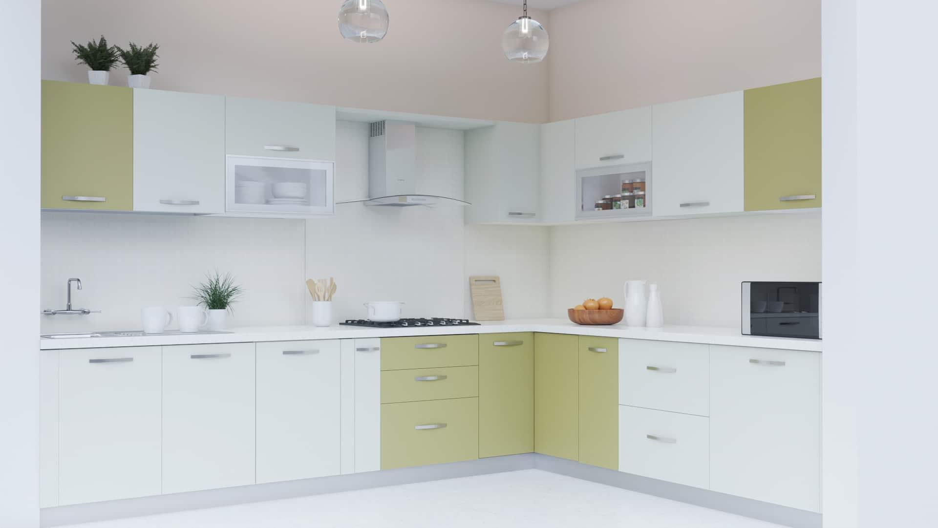 lshaped smart modular kitchen india  homelane