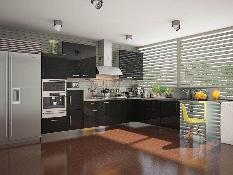 Brina L-shaped Modular Kitchen Designs India | HomeLane