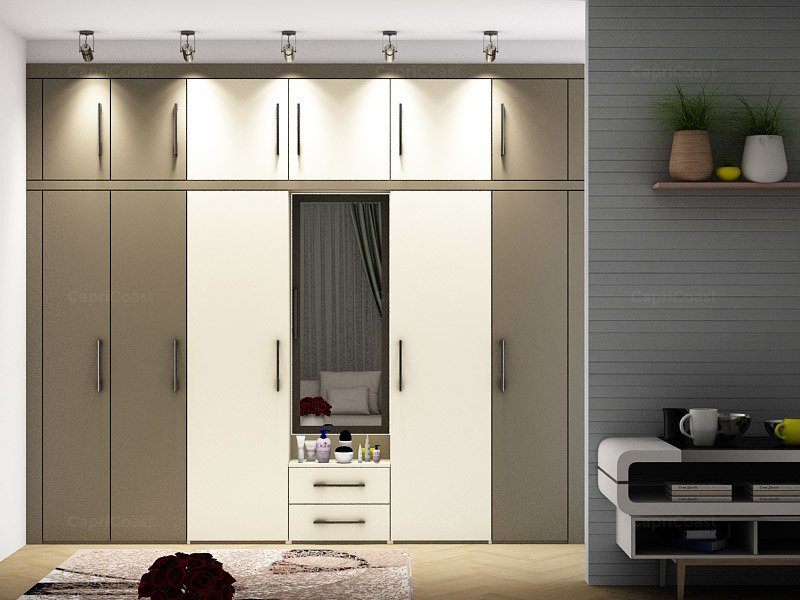 wardrobe design with Dressing table