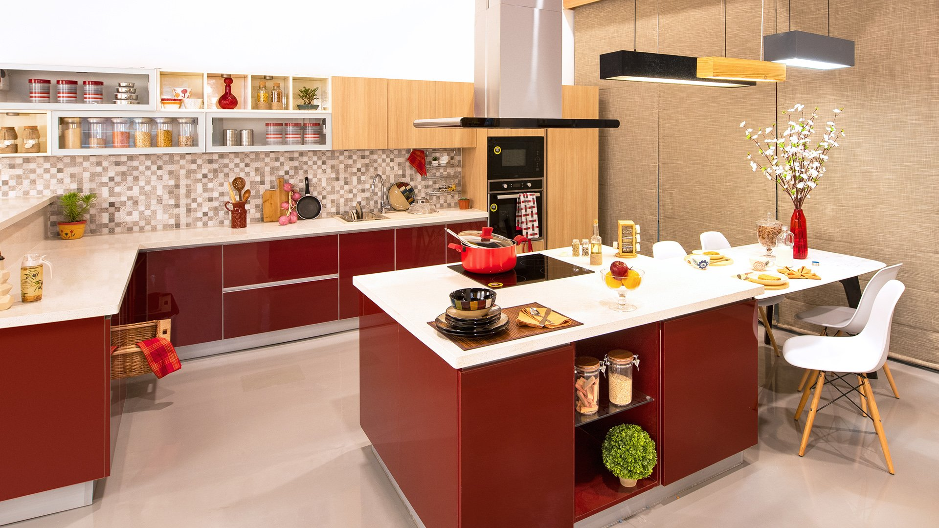 interior design photos for kitchen in india