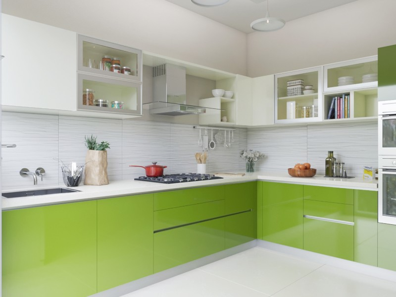 Serendipity L-Shaped Modular Kitchen India | HomeLane