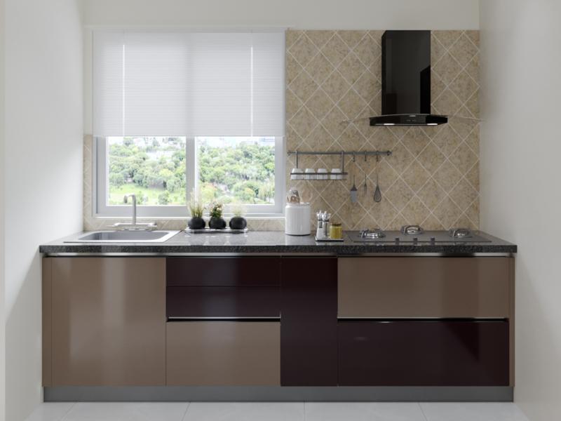 Coffee Beans Modular Kitchen Designs