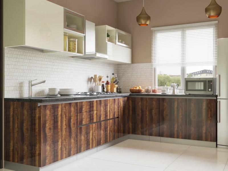 transylvania lshaped modular kitchen designs india  homelane