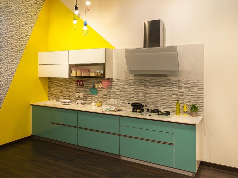Pop Straight Modular Kitchen Designs